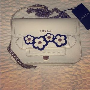 Furla NWT mini-crossbody with flower decals
